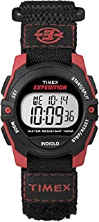 Timex Unisex Digital Watch with LCD Dial Digital Display and Black Nylon Strap T49956