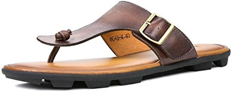 Ruanyi Thong Flip Flops skor, mode Comfortable Genuine läder Slippers Slippers Slippers sommar No -Slip SCasual Flat Heel män  Specialerbjudande
