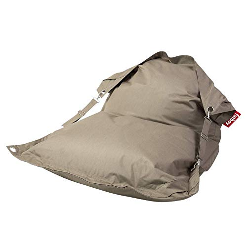 Fatboy Buggle-Up Outdoor Beanbag   Le Pouf polyvalentI Banquette et Pouf en Un   180 x 140 cm   Polyester I Résistant aux UV, à l'eau et aux salissures I Taupe