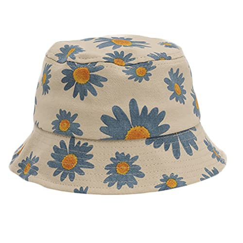 Santwo, cappello da sole per bambini con motivo floreale, UPF 50, in cotone, per bambine dai 3 agli 8 anni C Taglia unica