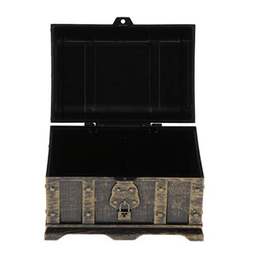 SM SunniMix Caja de Juguetes Pirata Treasure Chest, Gran Juguete para Niños, 14 X 9,8 X 9,8 Cm - C, Individual
