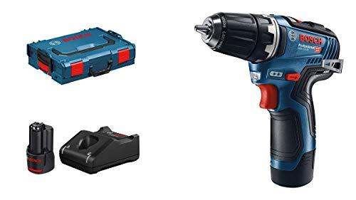 Bosch Professional GSR 12V-35 - Atornillador a batería (2 baterías x 3.0 Ah, 12 V, 35 Nm, en L-BOXX)