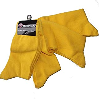 Yellow Socks (Super Pack of 4 Pairs), Yellow, Mens 6-10 UK