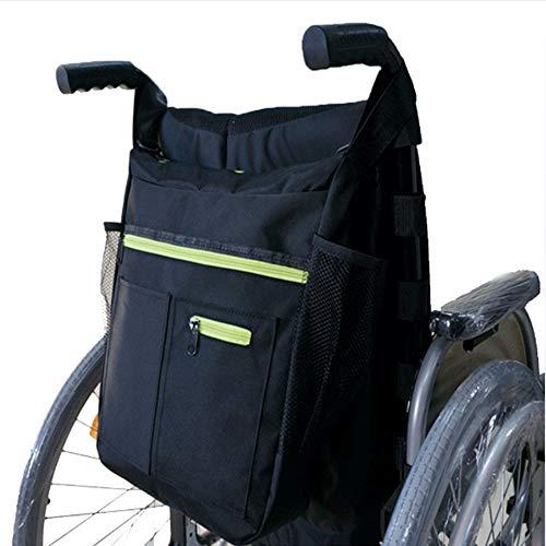 YAOBAO Rollstuhl-Tasche, Aufbewahrungstasche für Rollstühle Zubehör zum Tragen von losen Gegenständen und Zubehör, Reise-Messenger-Rucksack für ältere Menschen, begehbare Tasche mit Wasser-Taschen