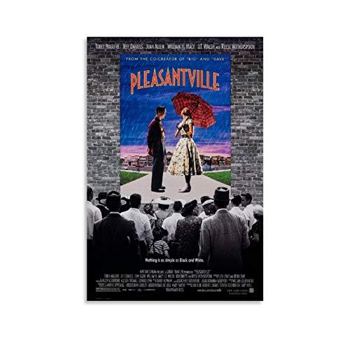 EWRW Pleasantville - Póster de pintura sobre lienzo, diseño de películas clásicas para sala de estar, 40 x 60 cm