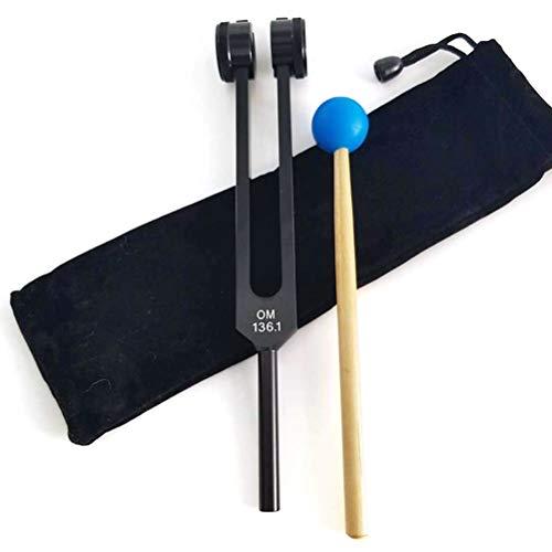 BSTQC OM 136.1Hz Color diapasón Ohm Tenedores de energía en un Colorido OM - Disponible para Corazón Chakra Yoga Meditación afinación del Instrumento