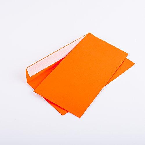 Briefumschläge DINl lang C6/5 114x229 mm orange 120 g/m² ohne Fenster haftklebend (205A)(100)