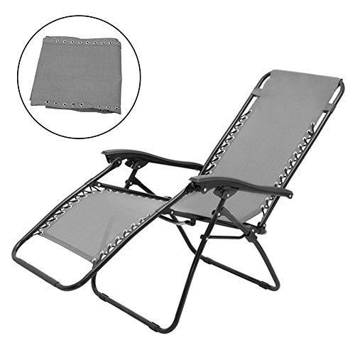 Tela de repuesto para silla de gravedad cero, piezas reclinables de patio, funda de tela de repuesto para tumbona cojín reclinable herramienta de reparación para jardín playa