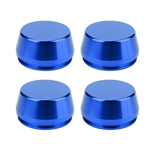 aqxreight - Tapas centrales de rueda, 4 piezas 56mm / 2.2in Universal Wheel Rim Center Cap Hub Cover Pieza de aleación de aluminio modificada(azul marino)