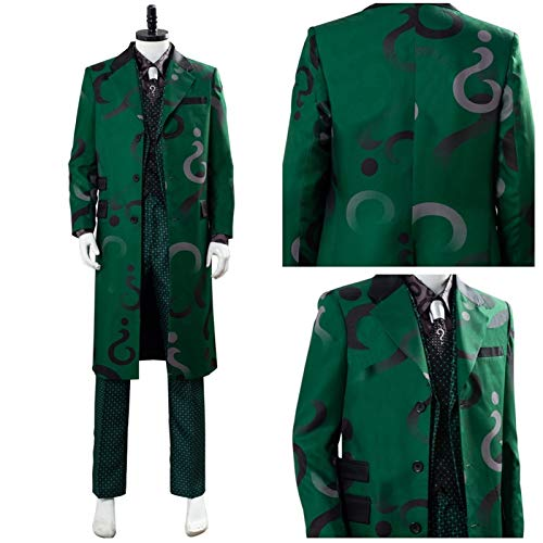 MAXIAOTONG Gotham Saison 5 The Riddler Edward Nygma Cosplay Costume Manteau Vert Costume Complet Costumes d' (Color : Male, Size : XL)