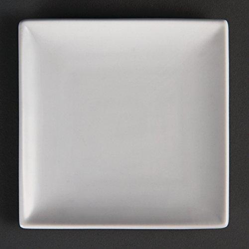 20 Restauration u153 Assiette carrée, 140 mm, 14 cm (Lot de 12)