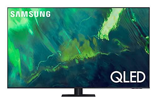 Samsung TV QLED QE55Q75AATXZT, Smart TV 55' Serie Q70A, Modello Q75A, QLED 4K UHD, Alexa integrato, Grey, DVB-T2 [Escl. Amazon][Efficienza energetica classe F]