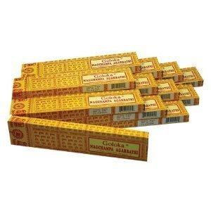 Räucherstäbchen Goloka Nag Champa, 12 Pack. á 16 g
