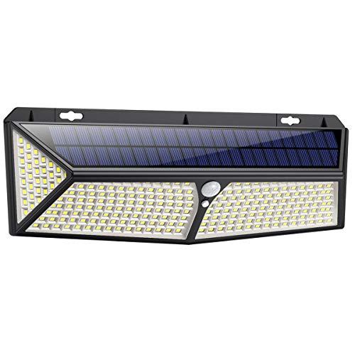 Solarlampen für Außen mit Bewegungsmelder,【288LED mit USB Wiederaufladbar 】VOOE Solarleuchten für Außen 2500 Lumen Solar Wasserdichte Wandleuchte Solar Aussenleuchte Solarlicht für Garten