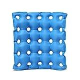 GLJY El cojín Inflable del Asiento del Aire Hace, el colchón de Aire médico de la Silla de Rueda, Antipolvo Evita el Alivio del Dolor del decúbito,Blue,42 * 42CM