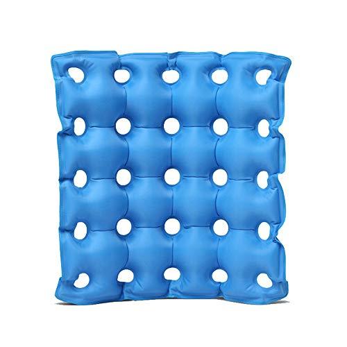 GLJY Luft-aufblasbares Sitzkissen Macht, medizinische Rad-Stuhl-Luftmatratze, Anti Bedsore verhindern Dekubitus-Schmerz,Blue,42 * 42CM
