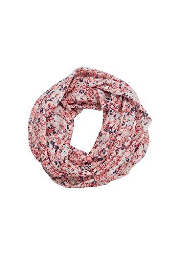 s.Oliver Damen Schal mit Millefleurs-Muster light pink multicolor floral AOP 1