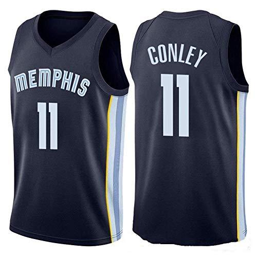 NBA Herren Basketball Trikot Mike Conley # 11NBA Memphis Grizzlies City, Herren Mesh Basketball Swingman Trikot Ärmelloses Sportwesten Top,Black-L