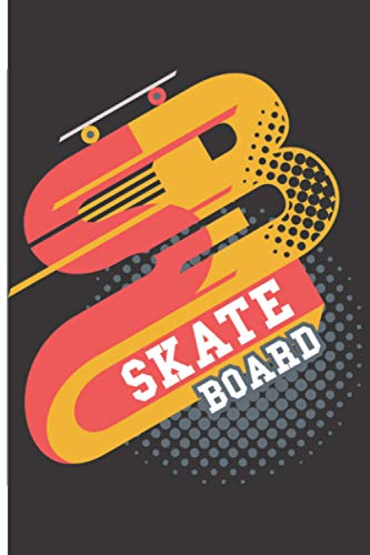 Skate Board: 120 Low Vision Lined Pages - 6