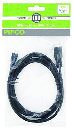 PIFCO AVS1038 Micro HDMI Kabel, Zwart, 2 m