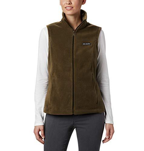 Columbia Women's Benton Springs Soft Fleece Vest, Olive Green, Petite X-Large