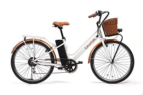 BIWBIK Bici ELETTRICA MOD. GANTE Batteria 36V12AH (Bianco)