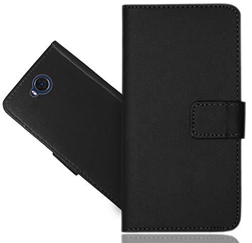 Cubot A5 Handy Tasche, CaseExpert® Schwarz Wallet Case Flip Cover Hüllen Etui Hülle Ledertasche Lederhülle Schutzhülle Für Cubot A5