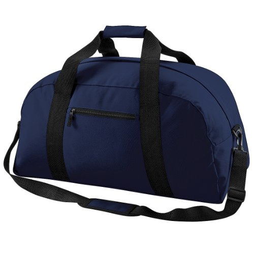 BagBase Classic Holdall/Duffle Travel Bag (Pack of 2) (One Size) (French Navy)