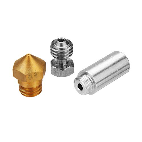 ZJYSM MK10 All Alloy Hotend Conversion Kit with 0.4mm Brass Nozzle for 3D Printer 1.75mm Filament