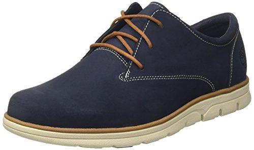 Timberland Bradstreet Plain Toe , Zapatos Oxford Hombre, Azul (Black Iris Nubuck), 40 EU