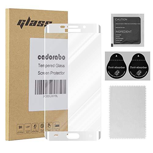 Cadorabo Pellicola Protettiva per Samsung Galaxy S6 Edge in Trasparente con Bianco – Vetro di Protezione Temprato Blindato (Tempered) Schermo Intero per Display con 3D Touch e 9H