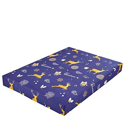 XGguo Protector de colchón de bambú Funda de colchón y Ajustable Sábana de Cama Impresa Funda Protectora cepillada-11_140X200 + 25cm