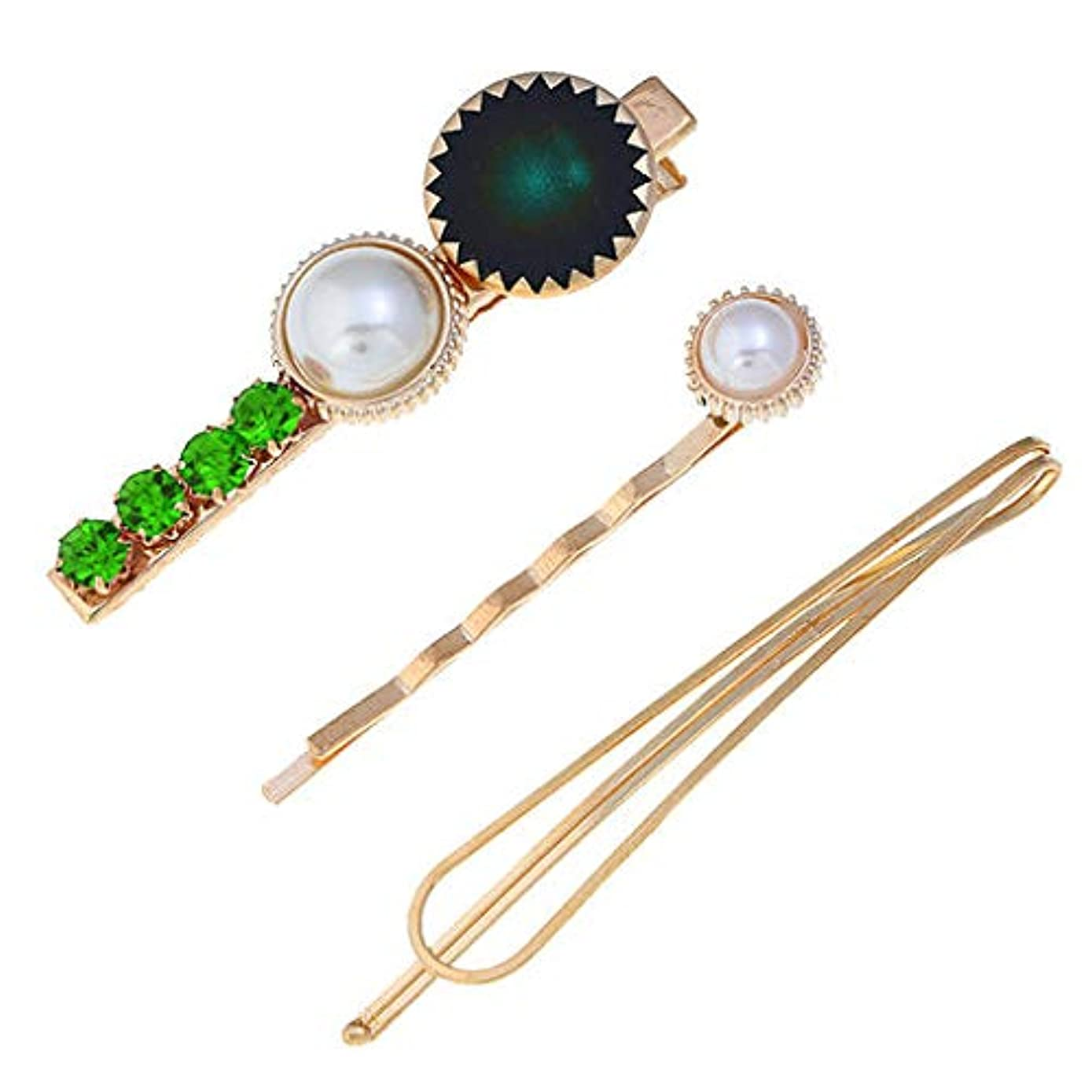 Junshion Women's Fashion Hair Clip Trendy Sweet Romantic Pearl Button Sen Retro Multicolor Hairpin Girl Jewelry