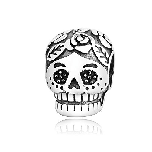 925 Silver Fit Original Europe Charm Bracelets Pendant Sterling Silver Charms Special Skull Beads Fashion Bead Jewelry Making