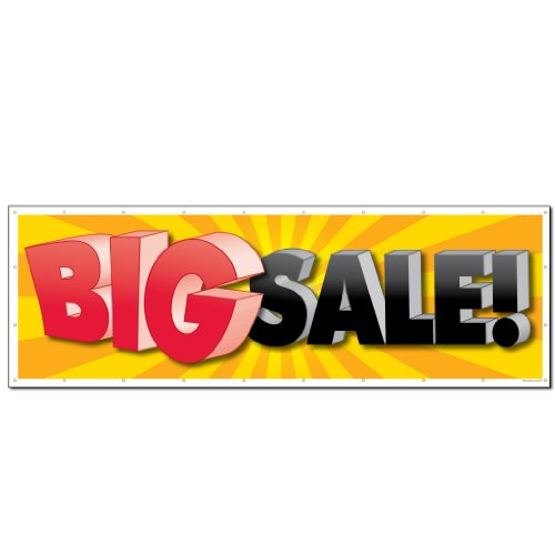 """VictoryStore Outdoor Banners - Business Banner - 3' X 9' """"Big Sale!� 10 oz. Vinyl Banner, with grommets for hanging Photo #2"""