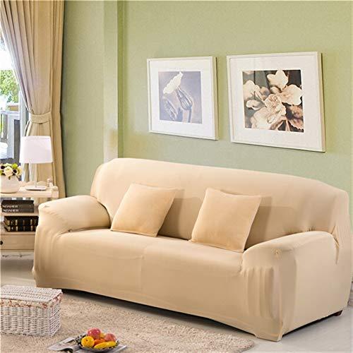 kengbi Einfach zu installierender und bequemer Sofa Sofa-Cover, einfarbig elastische Sofa-Abdeckung für Wohnzimmer Universal Stretch L-Stil Sektionale Ecke Sofa Couch Cover Slipcover 23 Farben