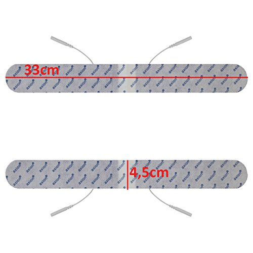Elektroden-Set gegen Rückenschmerzen. Für TENS-Therapie gegen Beschwerden an Rücken, Nacken & Schultern - 8