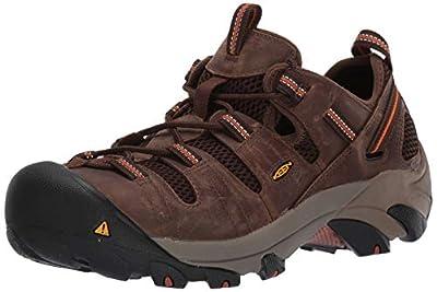 KEEN Utility Men's Atlanta Cool Steel Toe Work Shoe, 12 D US, Shitake Brown/Black, 12D