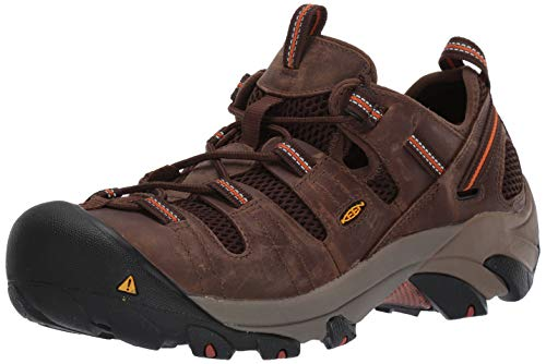 KEEN Utility Men's Atlanta Cool Steel Toe Work Shoe, 12 EE US, Shitake Brown/Black, 12EE