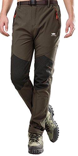 Mens Outdoor Soft Shell Pants Polar Fleece Transparent Waterproof Membrane 815 Grey Large(Tag Size 2XL)