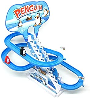 Penguin Flying game and sliding with amusing music and light