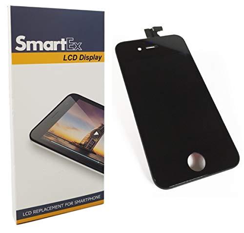 Smartex® NEW Display nero compatibile con iPhone 4S / Schermo LCD Retina e Vetro Touch Screen