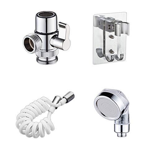 Cobeky Baño de lavado cara lavabo grifo de agua externo cabezal de ducha WC Hold filtro flexible lavado de pelo grifo Rinser Set