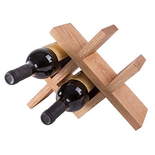 Rack Rovere Naturale Vino casa 4 Griglia Wine Collector Soggiorno Moderno Semplice Vino Lattice (Color : Marrone, Size : 32 * 10 * 24cm)
