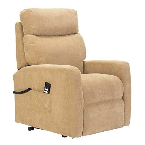 Sime - Sessel für Senioren, 2 Motoren, Aufstehhilfe. Abziehbarer Stoffbezug Judy-2M-CS-TSCAM Kamel Abnehmbarer Stoff Anpassbares Zubehör CE Medical