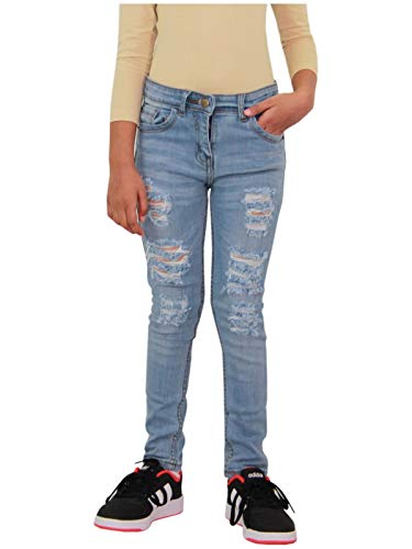 A2Z 4 Kids Kinder Mädchen Dünn Jeans Hellblau Designer - Girls Jeans JN28 Light Blue_13-14