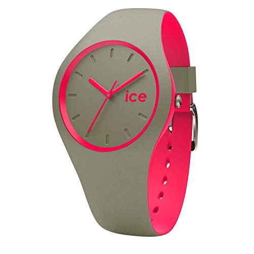 Ice-Watch - ICE duo Khaki Pink - Women's wristwatch with silicon strap - 000360 (Small)