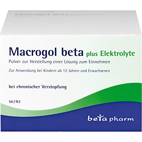 Macrogol beta plus Elektrolyte Pulver, 50 St. Beutel