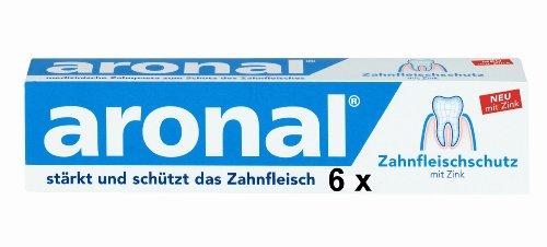6 pasta de dientes aronal 75 ml