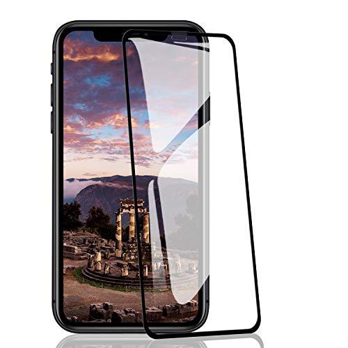 RIIMUHIR-Panzerglas Schutzfolie für iPhone 11 Pro Max/XS Max, Displayschutzfolie gegen Fingerabdruck, Transparentes HD, 9H-Härte, 3D-Vollabdeckung [2 Stück]